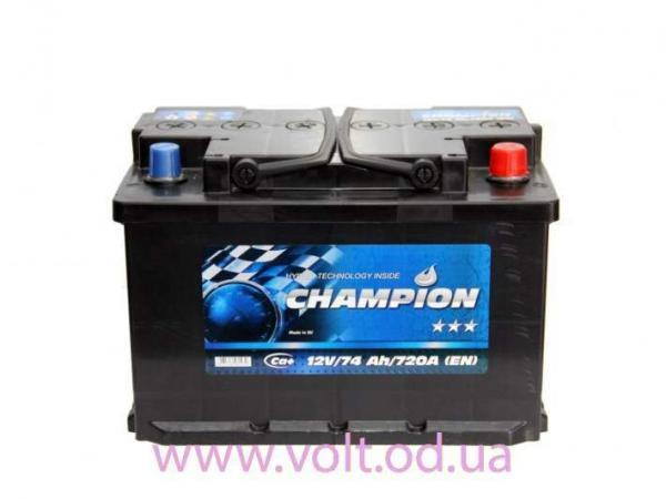 Champion Black 74ah R+720A
