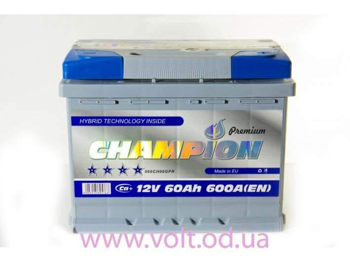 Champion Premium 60ah L+600A