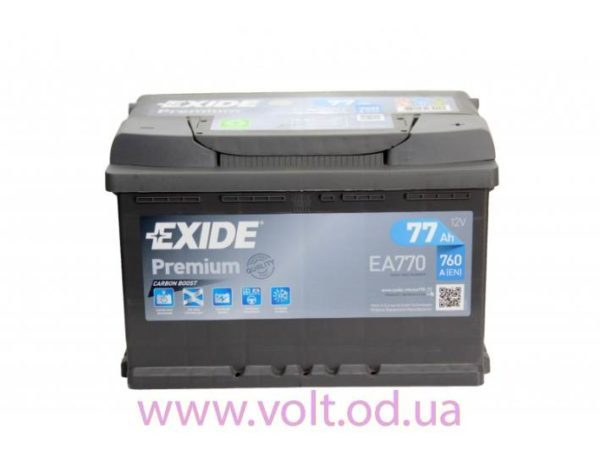 Exide 77аh R+770A