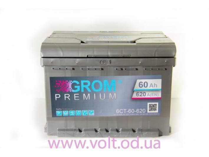 GROM PREMIUM 60ah R+620A