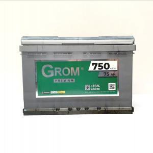 GROM PREMIUM 75ah R+750A