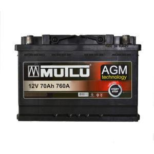 MUTLU AGM START-STOP 70AH R+ 760A