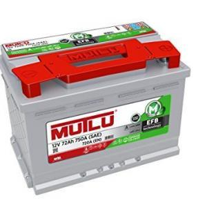 Mutlu EFB Start-Stop Technology 72Ah JR+ 760A