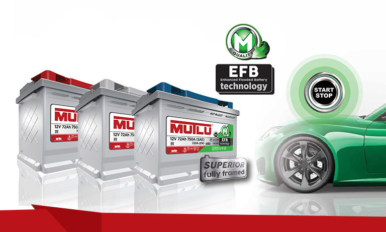 Mutlu EFB Start-Stop Technology 72Ah R+ 720A