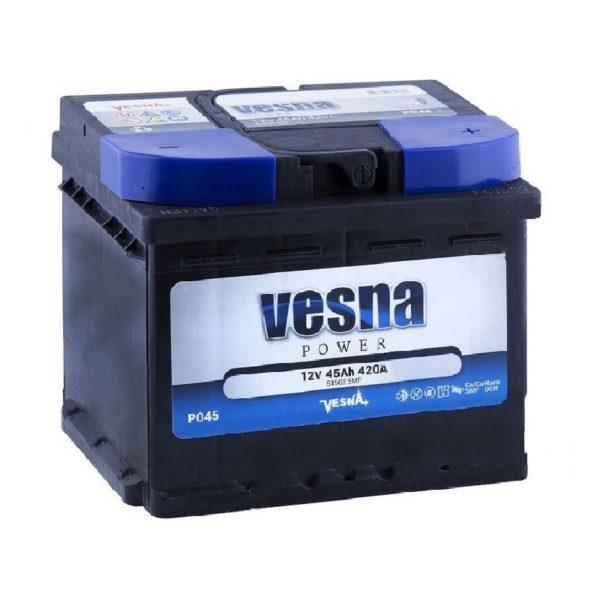 Vesna Power 45 Ah R+ 420A