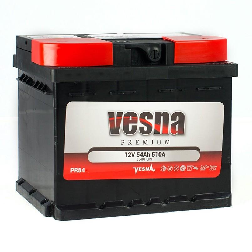 Vesna Power 54 Ah R+ 510A
