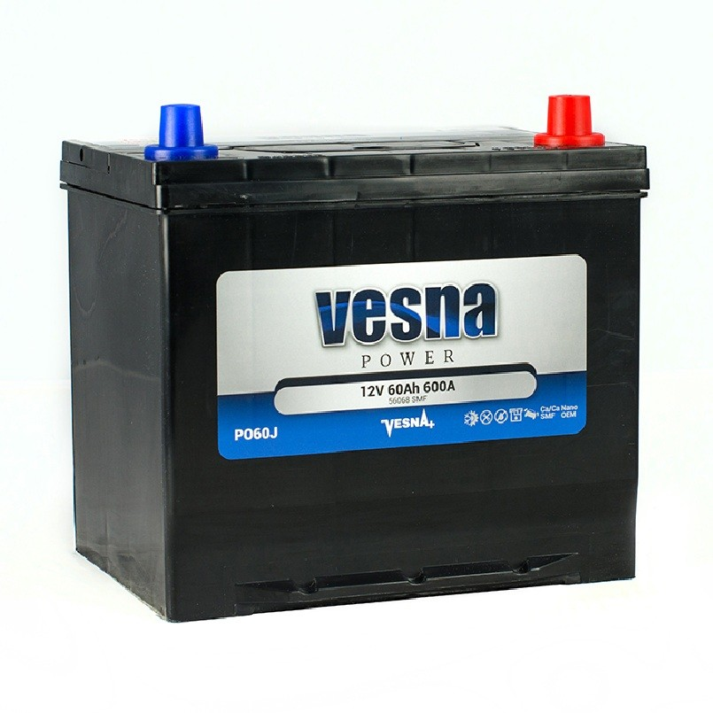 Vesna Power 60 Ah R+ 600A Asia