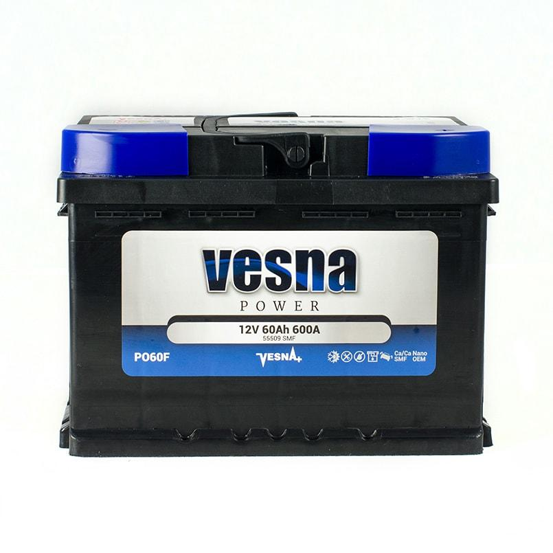 Vesna Power 60 Ah L+ 600A