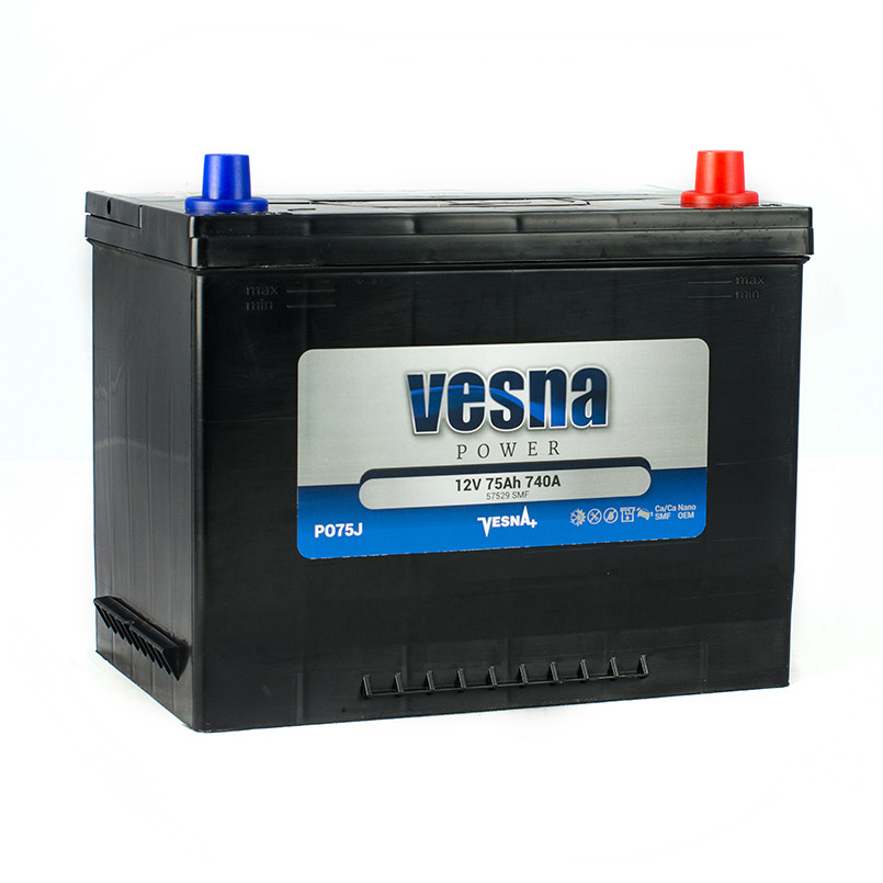 Vesna Power 75 Ah L+ 740A Asia