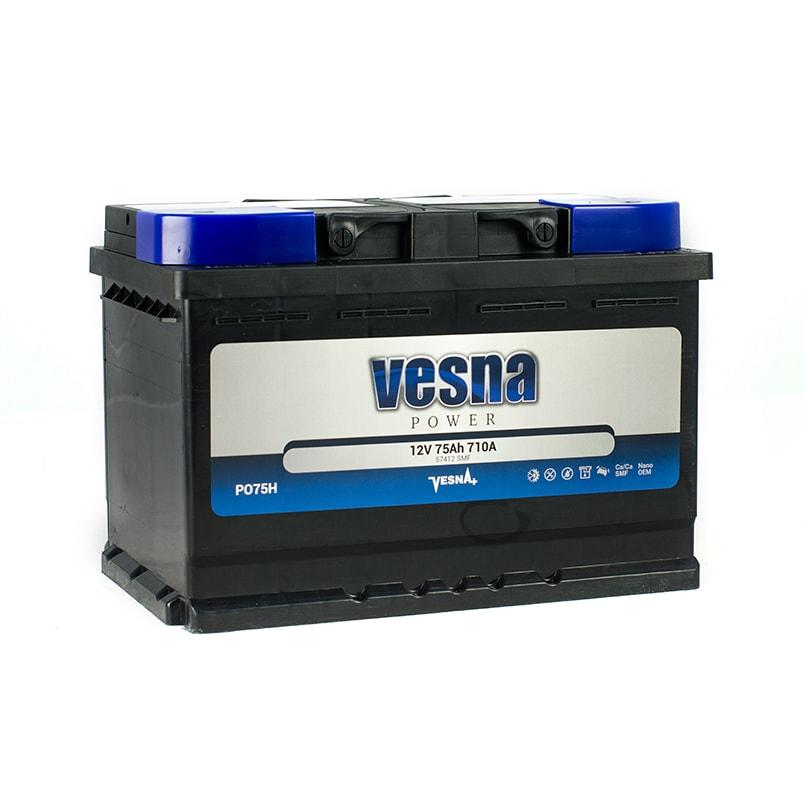 Vesna Power 75 Ah R+ 710A