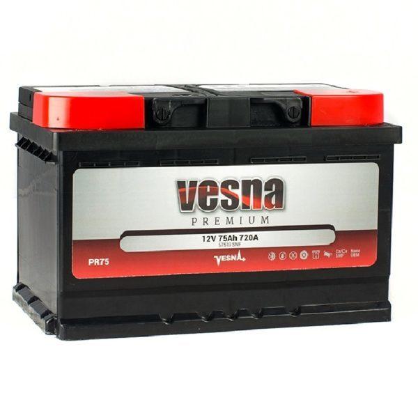 Vesna Premium 75 Ah R+ 720A