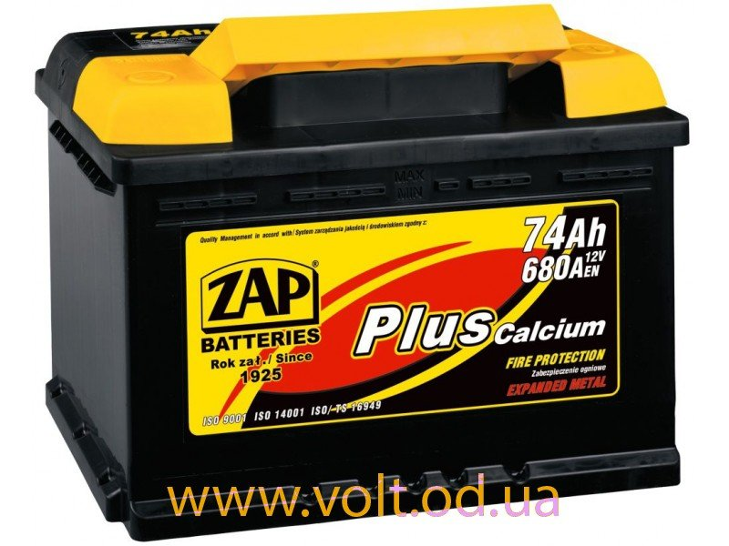 ZAP Plus 75 Ah JR+ 680A