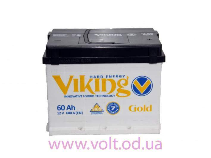 Viking Gold 60Ah R+ 600A