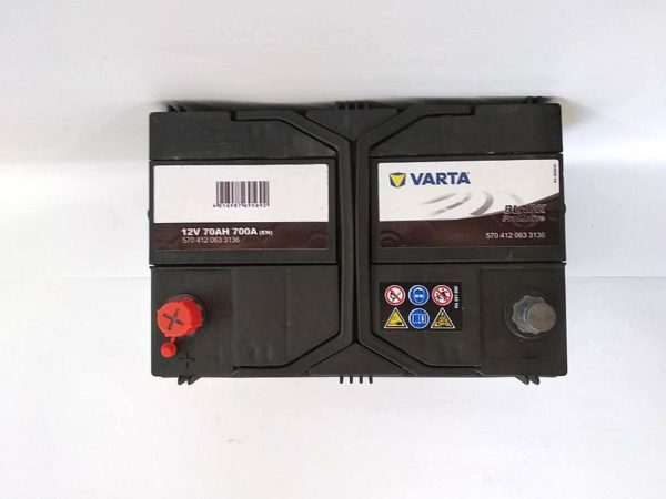 Varta Promotive Black 70Ah 700A вид сверху