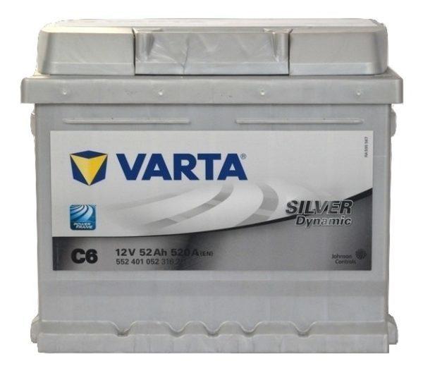 Varta Silver Dynamic 52Ah 520 A (низкобазовый)