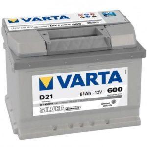 Varta Silver Dynamic 61Ah R+ 600 A (низкобазовый)