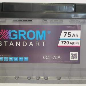 GROM STANDART 75ah R+720A