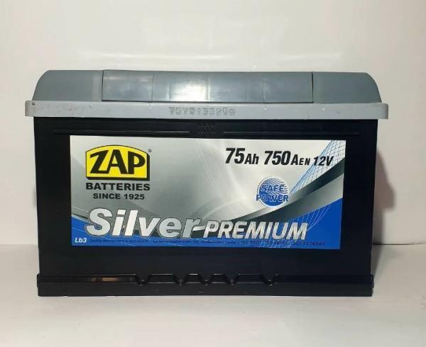 ZAP 75 Ah R+ 750A Silver Premium