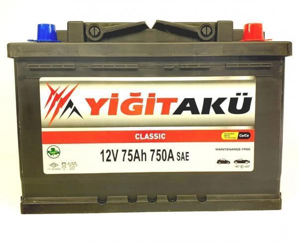Yigit Aku Classic 75Ah R+ 750A
