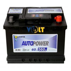 Autopower A60-LB2 60 А.ч R+ вид сверху