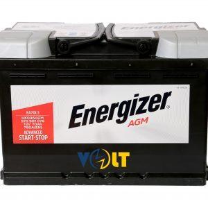 AGM Energizer 70Ah 640A