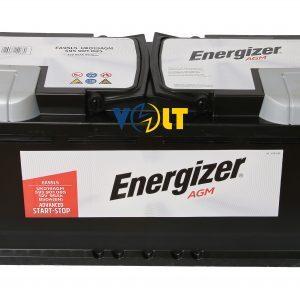 AGM Energizer 95Ah 850A вид сверху